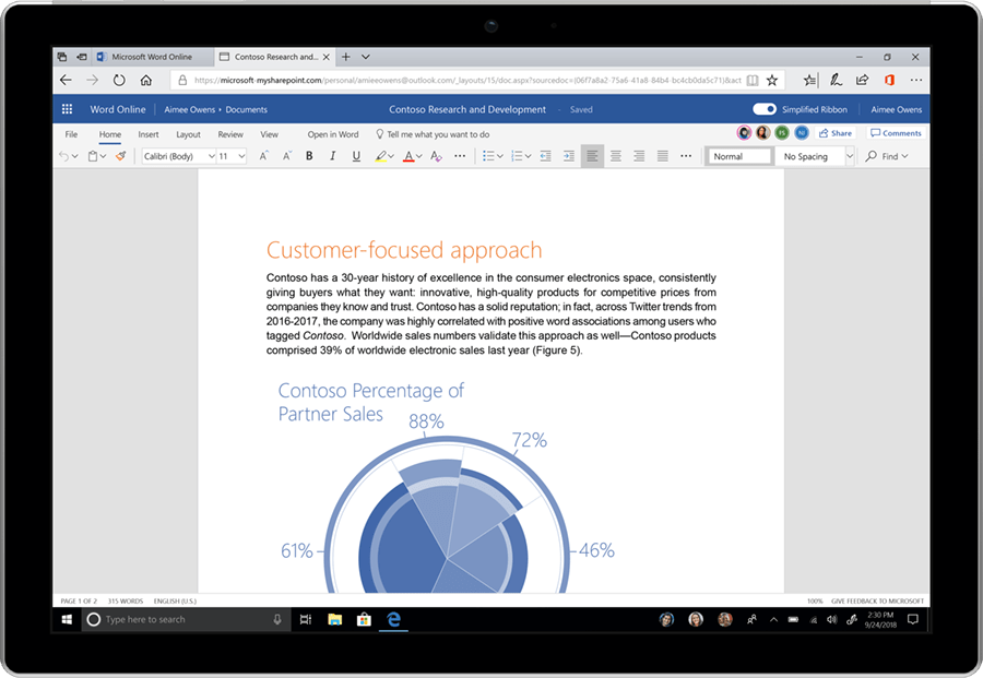 Microsoft Introduces Fluent Design To Office Apps