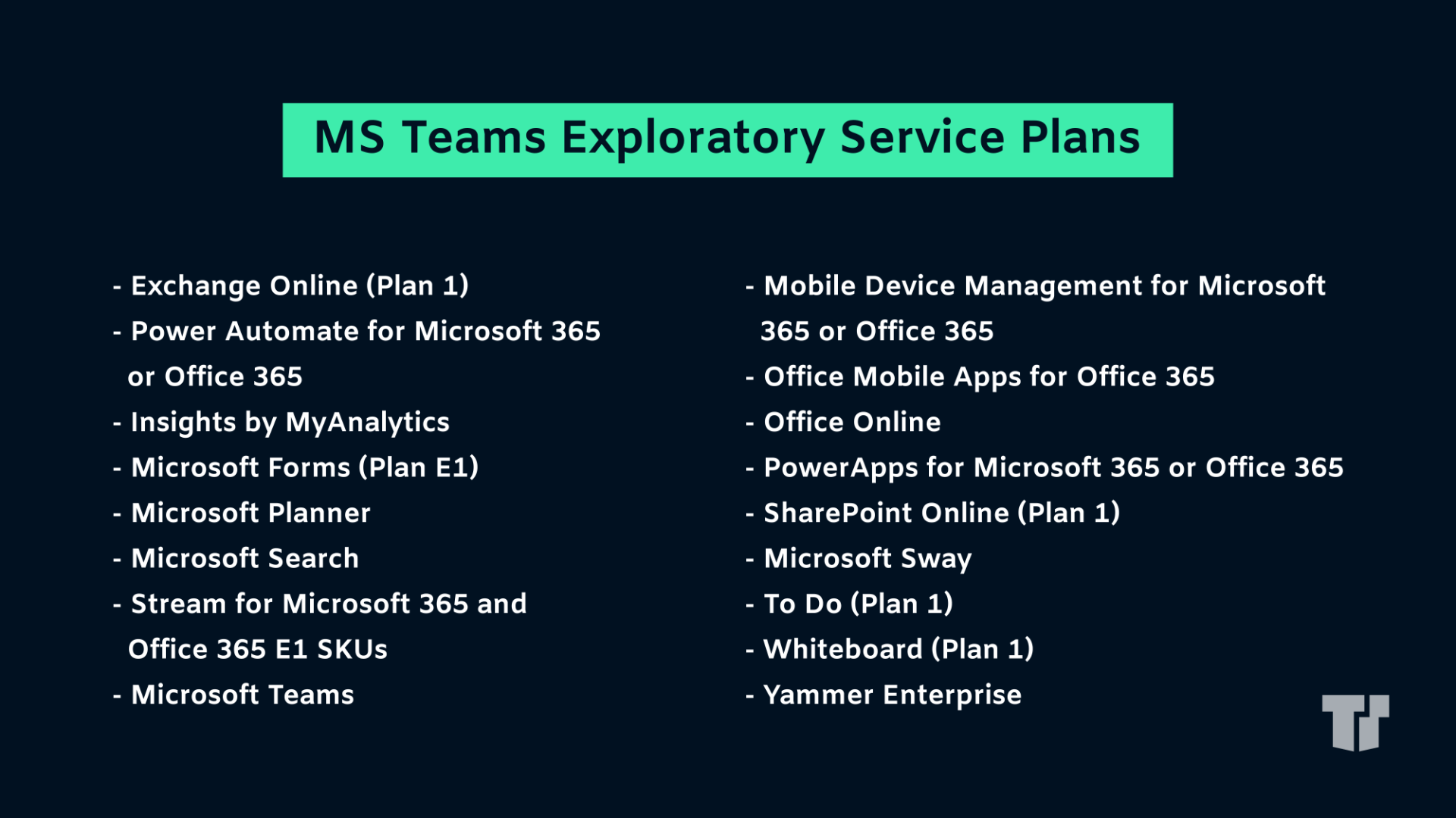 Teams exploratory microsoft